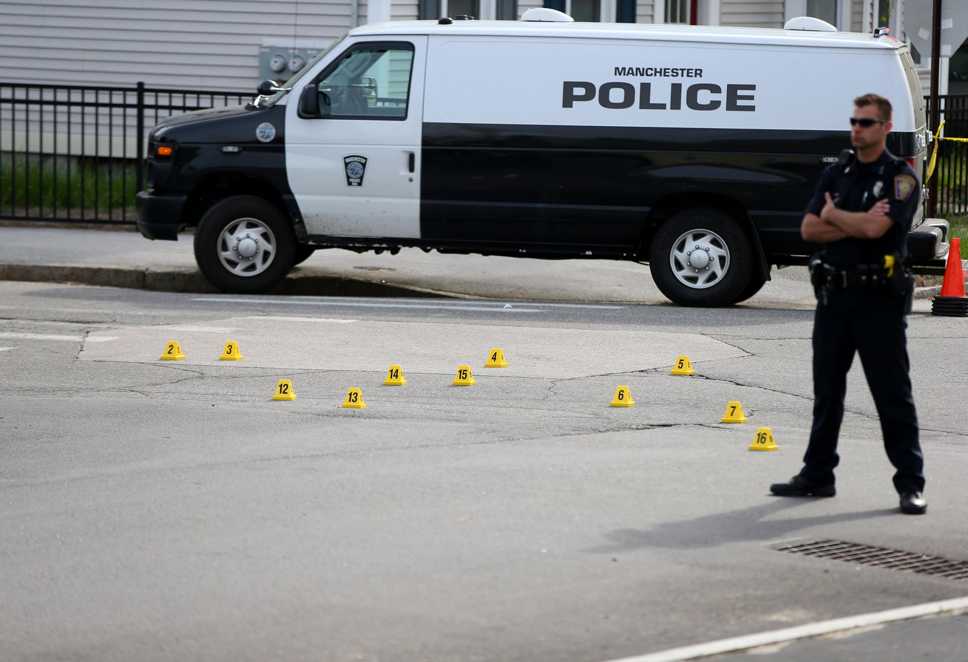 Photos from the scene of the Manchester, N.H., manhunt - The ...