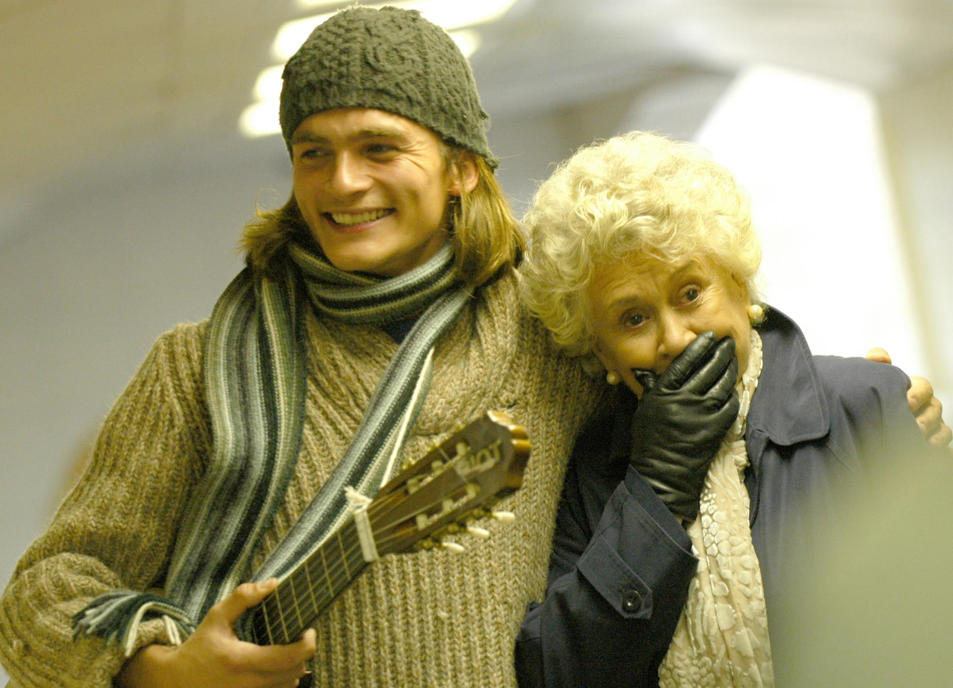 """Rupert Friend and Joan Plowright in """"Mrs. Palfrey at the Claremont."""""""