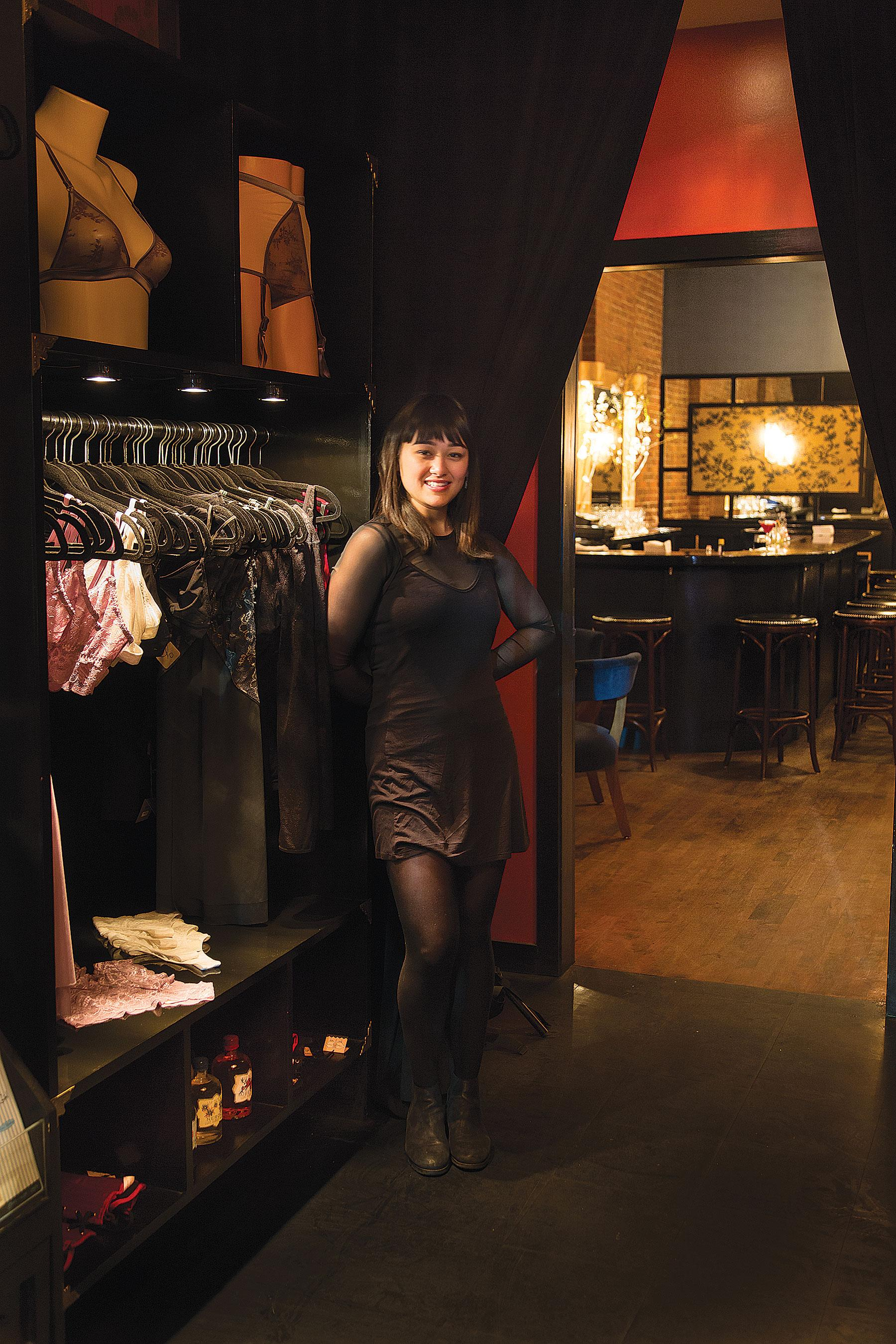 Hostess Kristen Gold Welcomes Visitors To Hidden Bar Justine's, Reminiscent  Of An Era When Every
