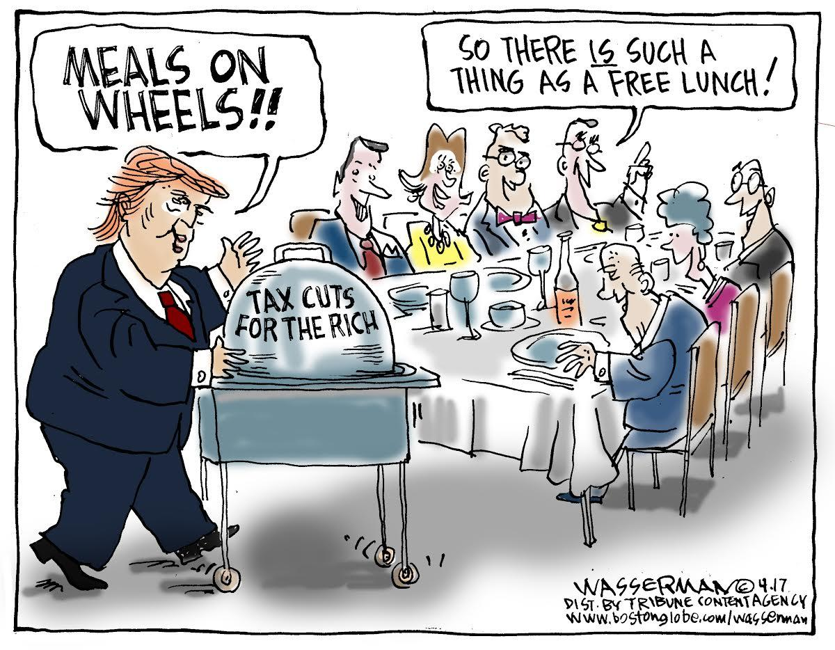 Image result for CARTOONS ABOUT REPUBLICAN TAX CUTS