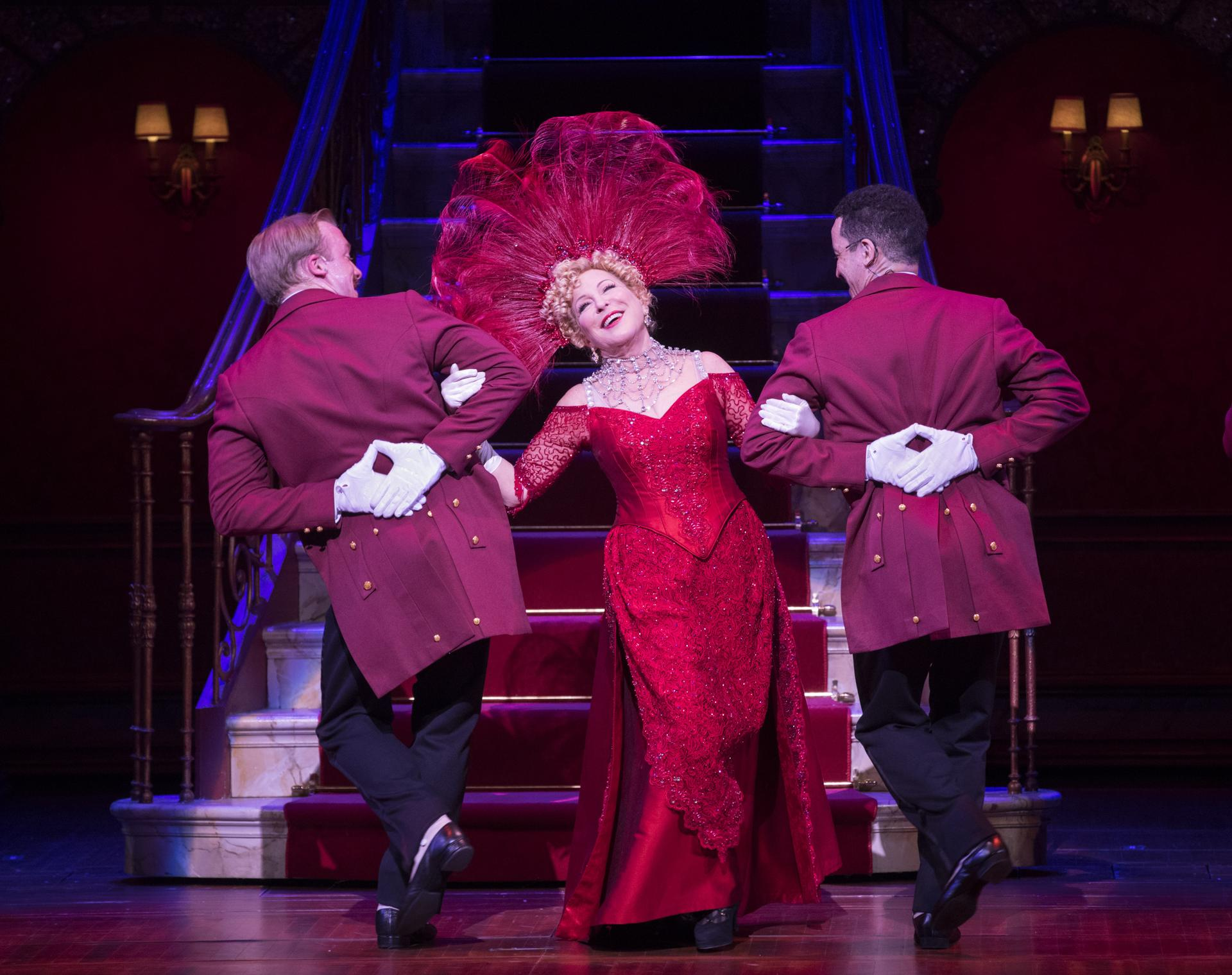 "Bette Midler in ""Hello Dolly."""