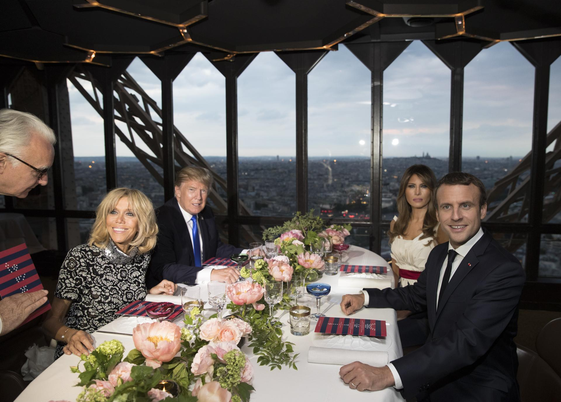 Here are photos from Trumps swanky Eiffel Tower dinner The