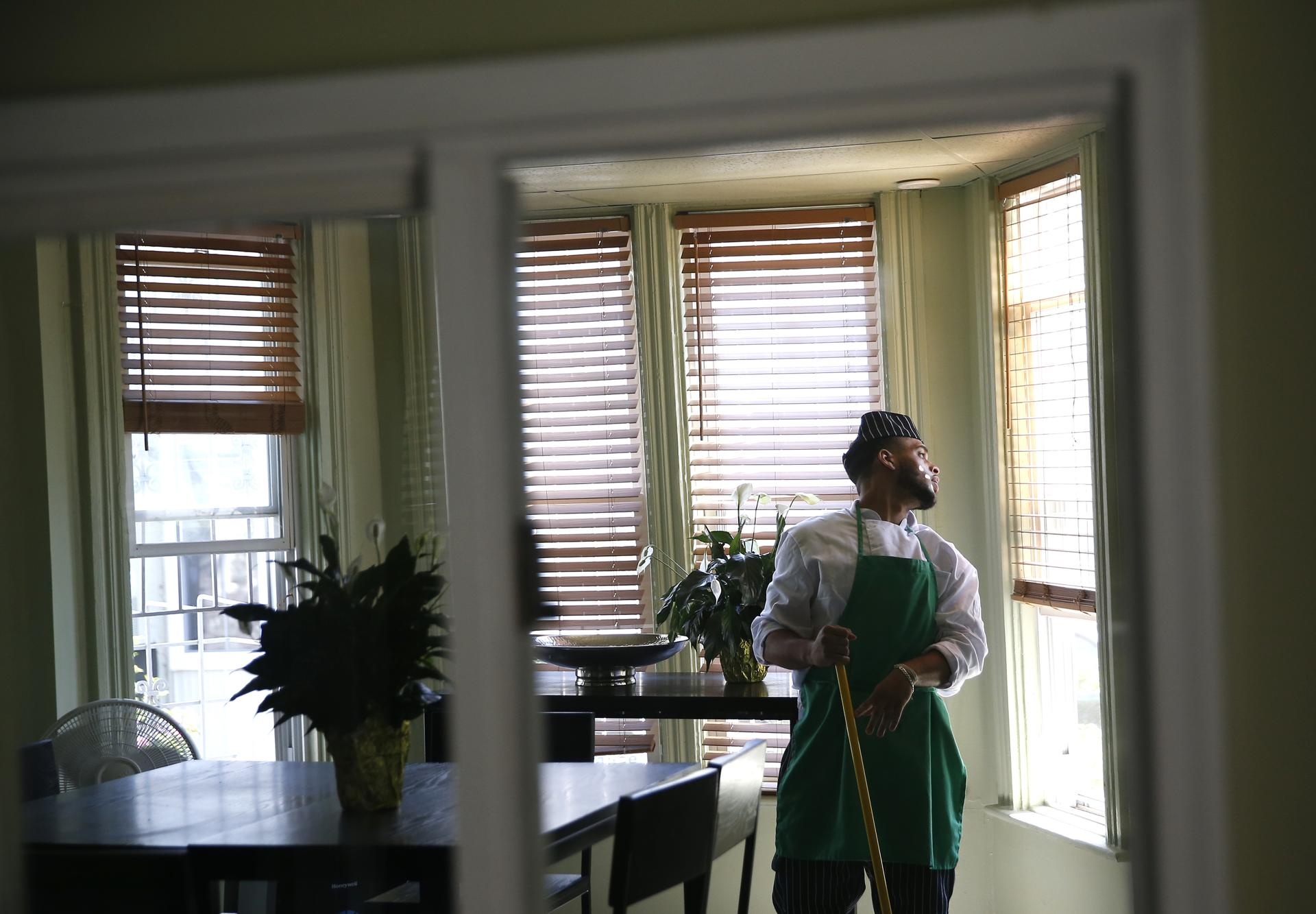 Snapchef Student Zeke Tejada Of Dorchester Leans Back To Looked Out The Window