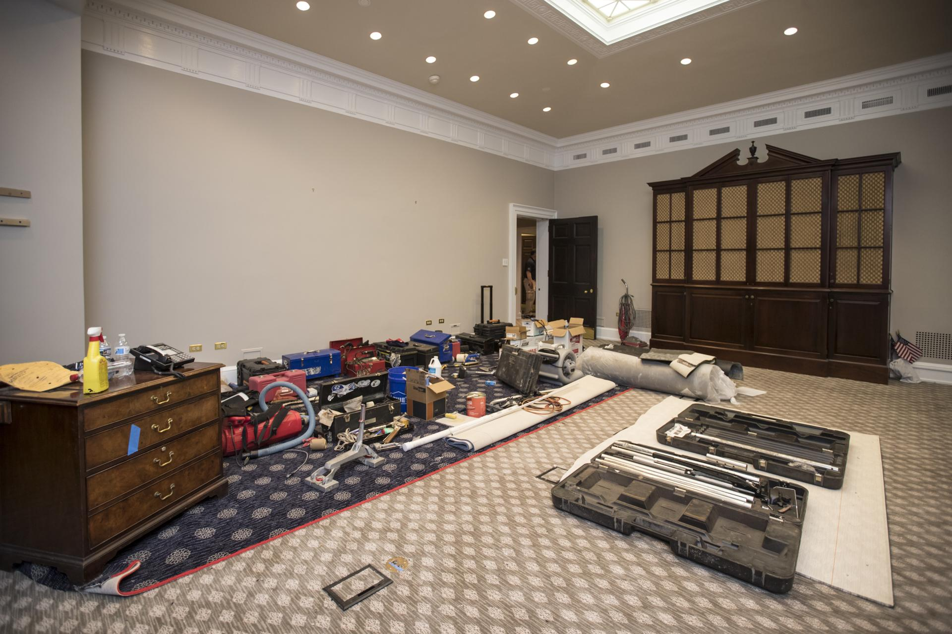 photos: see how renovations at the white house are progressing