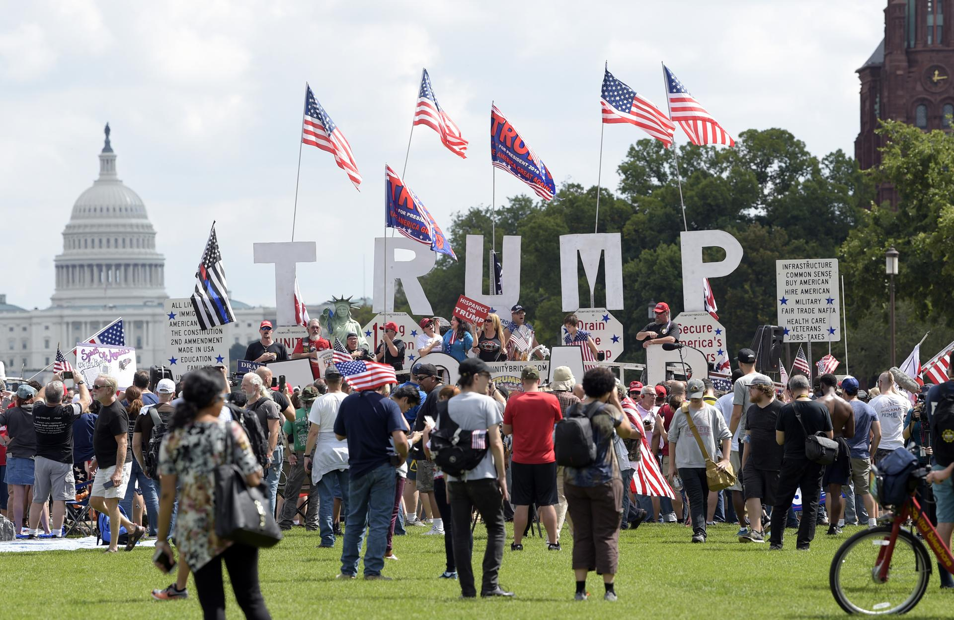 "People gathered on the National Mall in Washington on Saturday to attend a rally in support of President Trump in what organizers are calling ""The Mother of All Rallies."""