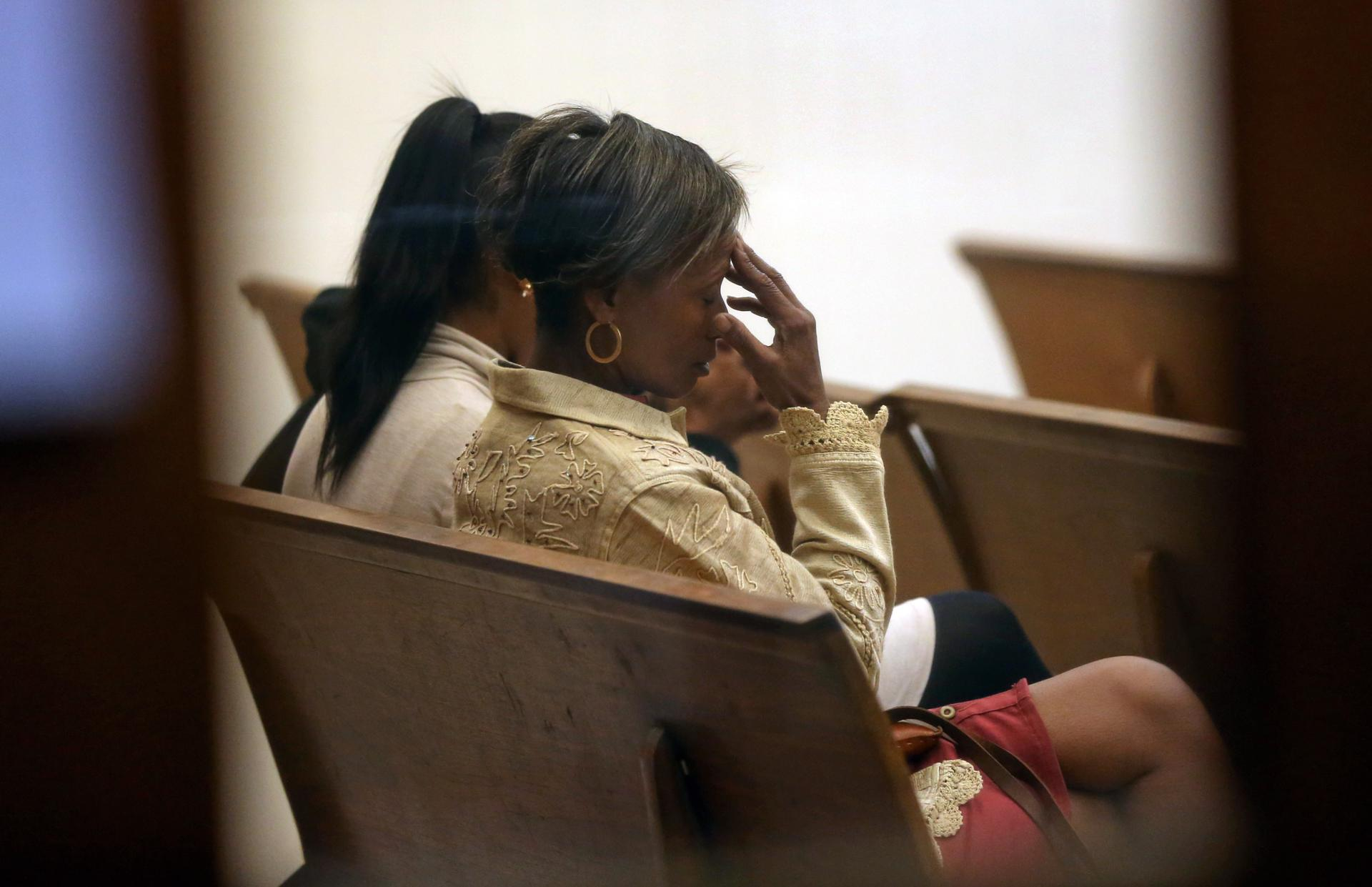 Regenia Rice (above), the wife of defendant Walter Rice, was in Quincy District Court on Friday for a hearing on the case.