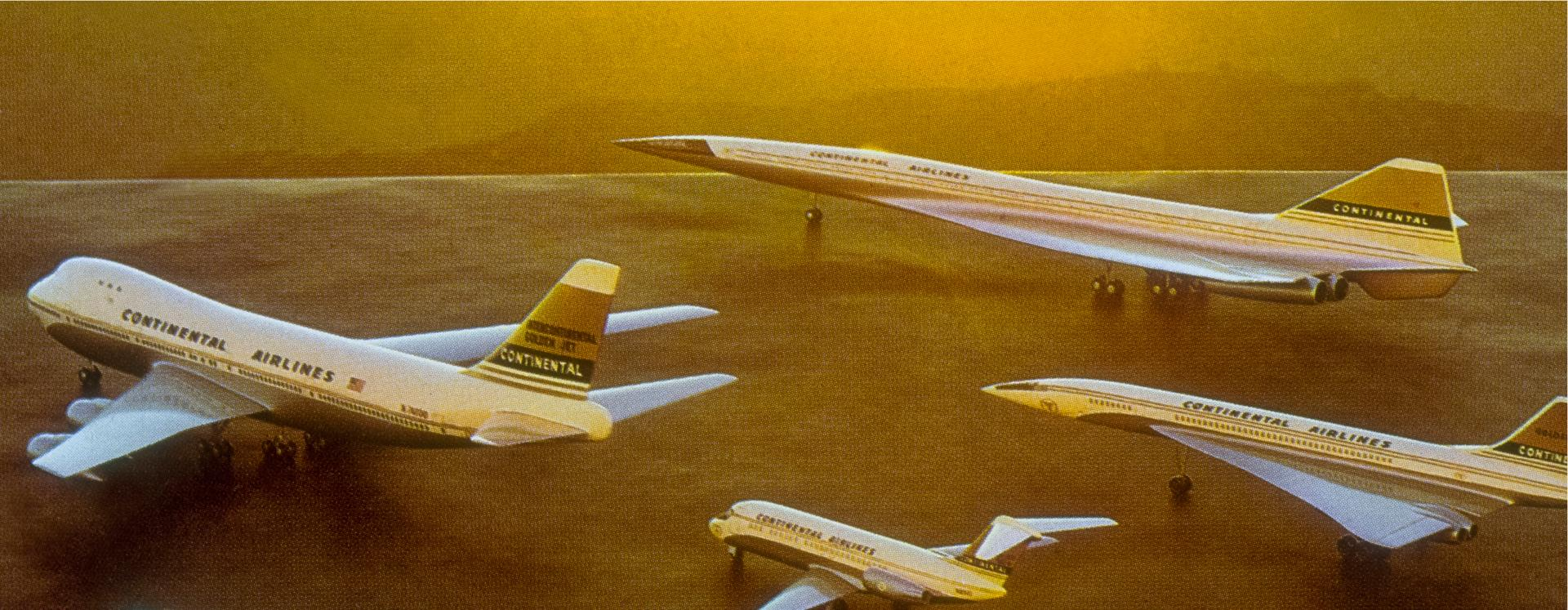 A 747 is part of the Continental fleet.