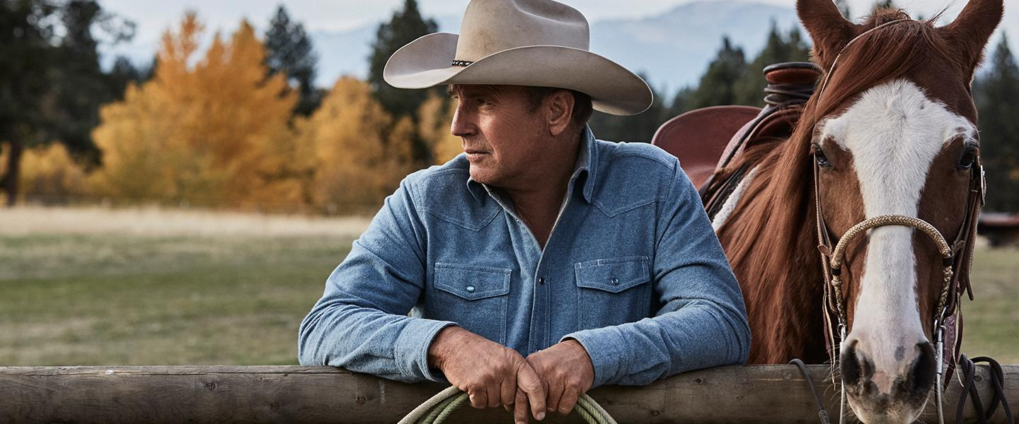 "Paramount network series ""Yellowstone."" Pictured: Kevin Costner."