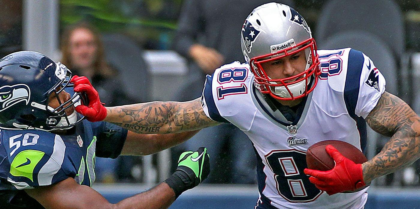 Patriots star Aaron Hernandez was a dominant tight end during his short career with New England.