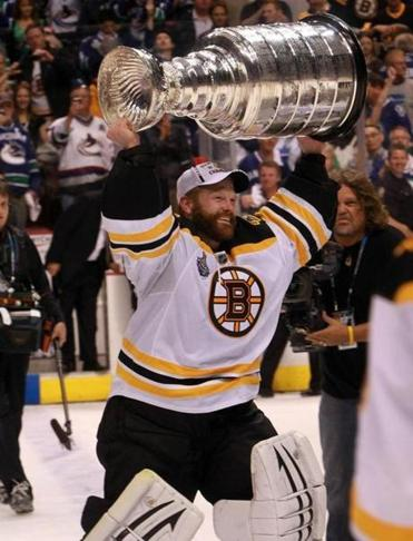 Tim Thomas was named playoffs MVP after leading the Bruins to a Stanley Cup championship.