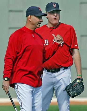 Curt Schilling, right, helped Terry Francona and the Red Sox win their second World Series in four seasons.