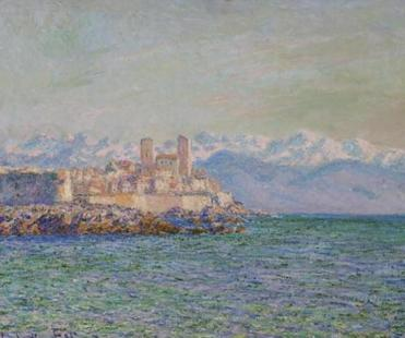 An estimate for one of the MFA paintings to be auctioned, a view across water of the fort at Antibes by Claude Monet, suggests it will fetch $5 million to $7 million