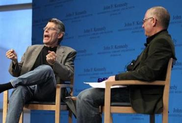Stephen King read from his new novel at the Kennedy Library Forums in November.