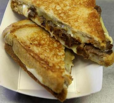 The Mighty Rib Melt from Roxy's Gourmet Grilled Cheese Truck.