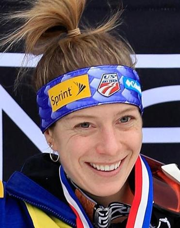 Hannah Kearney celebrated victory in the Ladies' Moguls Final at the USANA Health Sciences Lake Placid FIS Freestyle World Cup on Jan. 19, 2012 in Lake Placid, New York.
