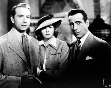 Costar Paul Henreid with leads Ingrid Bergman  and Bogart, for whom the love/war story was also a star vehicle.