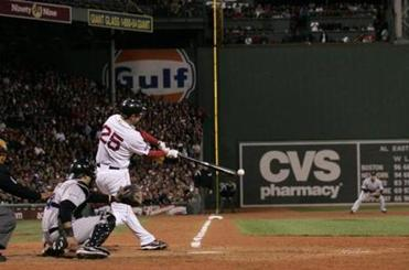 Mike Lowell's RBI double in the fifth inning drove in what turned into the winning run.