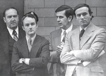 John R. O'Donovan (left), FBI agents John Morris and David Brady, and State Police Sergeant Robert Lang in 1979.