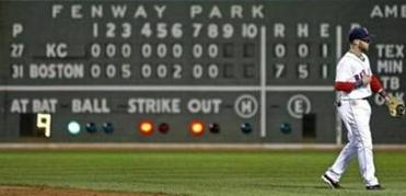 The scoreboard reflected a no-hitter for Boston, the fourth one thrown by a Red Sox pitcher since 2001.