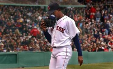 Pedro Martinez was lifted after just three innings when he surrendered right runs.