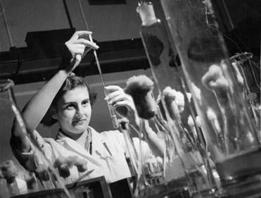 The Journal helped introduce World War II medical officers to penicillin, shown here being produced in England in 1946.