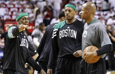 During the Big Three era, Rajon Rondo wasn't shy about telling veteran leaders how a play should be run.