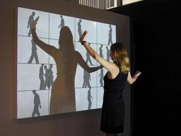 "A ""Shadow Play"" interactive wall presentation."