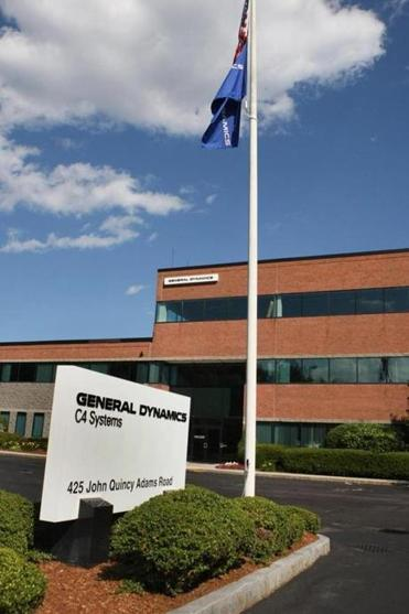 The General Dynamics complex in Taunton.
