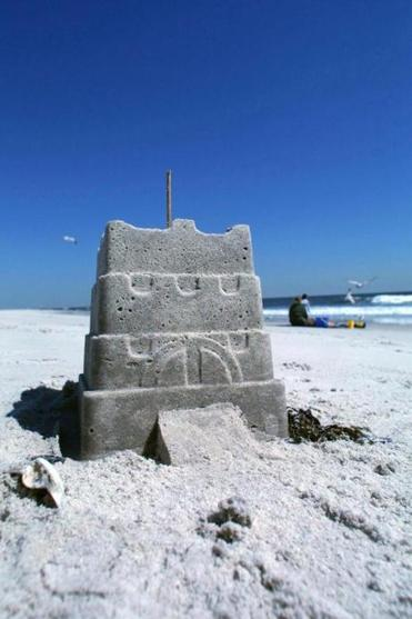 For strong sand castles, make sure you use wet sand.