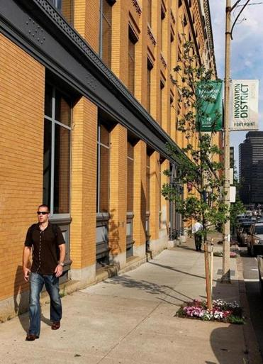 The Fort Point district in South Boston has attracted new businesses into the area.