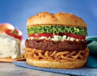 Red Robin's Bleu Ribbon Burger.
