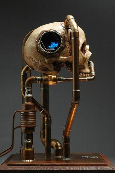 """The Dream'' (2009) by Mike Cochran is on display in the steampunk show."