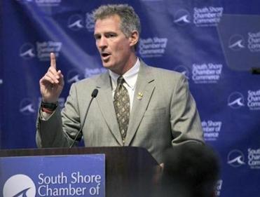 Senator Scott Brown, shown at an event last week, called the GOP's no-exceptions abortion platform a mistake.