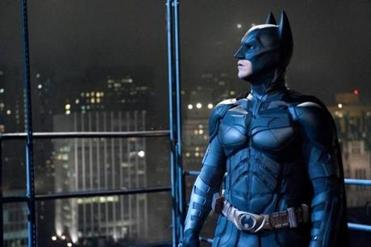 "Christian Bale in ""The Dark Knight Rises."""