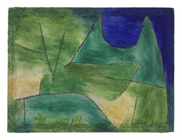 "Paul Klee painted ""Green Terrain"" in 1938. The Nazis labeled his art ""degenerate."""