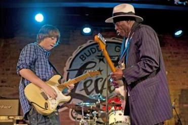 Quinn Sullivan and Buddy Guy at Buddy Guy's Legends on January 7, 2012 in Chicago.