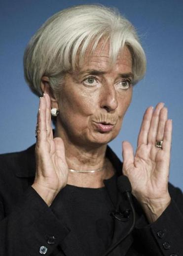 Christine Lagarde warned that ''uncertainty'' continued to plague the global economy.