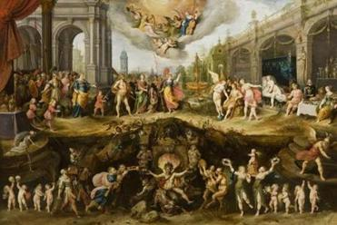 """Allegory of Man's Choice Between Virtue and Vice"" by Frans Francken II is one of the new paintings in the Koch Gallery at the Museum of Fine Arts."
