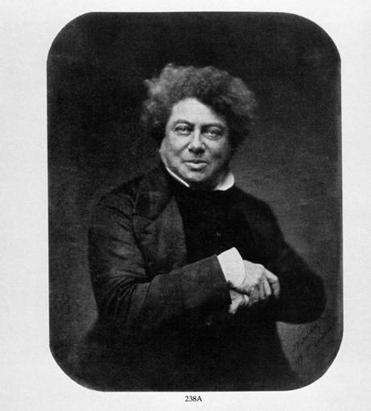 Alexander Dumas photographed by Gaspard Felix Tournachon in 1857.
