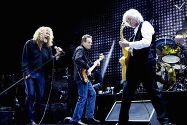 "From left: Robert Plant, John Paul Jones, Jimmy Page, and Jason Bonham performing in London in 2007. A film of the Led Zeppelin reunion concert has been made into the documentary ""Celebration Day."""