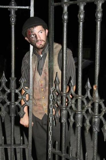Actor Ryan T. Jennings on the Ghosts and Gravestones Tour in Boston.