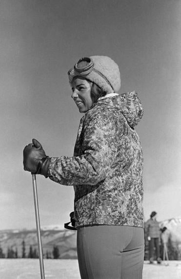 Ethel Kennedy went skiing at Aspen, Colorado on Dec. 31, 1962.