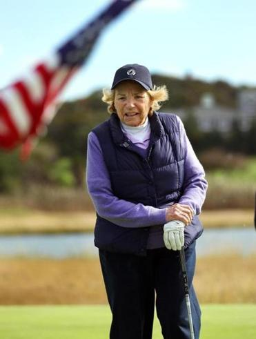 Ethel recently playing in her annual charity gold tournament in Hyannis.
