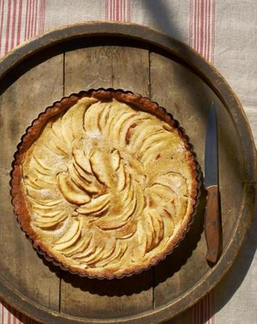 Tarte Normande showcases the Normandy region's signature ingredients, apples and cream.