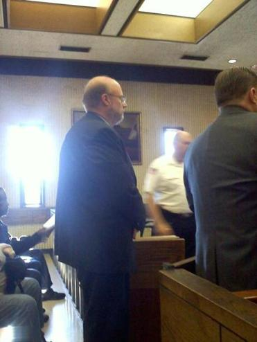 Saugus selectman Stephen Horlick at his arraignment in Lynn on assault and battery charges.