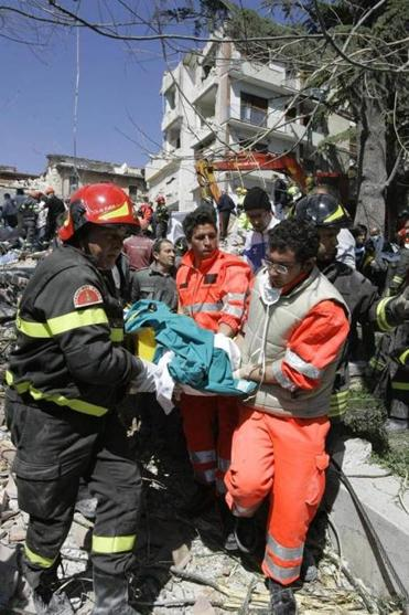 The April 2009 earthquake that devastated the Italian town of L'Aquila left 308 people dead.