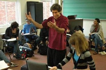 Hankus Netsky teaching a class in the Contemporary Improvisation department at the New England Conservatory.