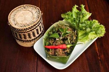 At the restaurant Tamarind, whose menu ranges from authentic to Westernized, a dish of local greens and sesame.