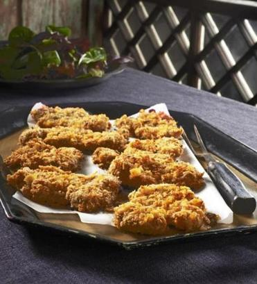 Crunchy broiler-cooked Deviled Chicken is flavored with mustard, hot sauce, and more.