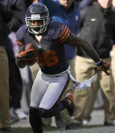 Tim Jennings's 25-yard interception return for a TD was a game-changing play for the Bears.
